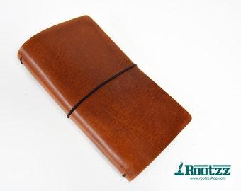 RG XL Traveler's notebook cognac - midori like- fauxdori