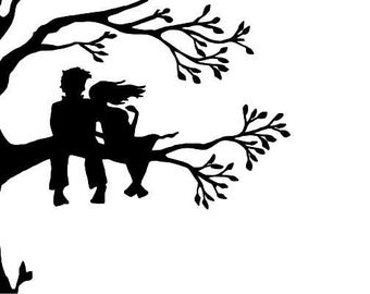 """Couple in Tree 3.75"""" tall"""