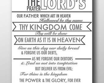 Impeccable image throughout the lord's prayer kjv printable