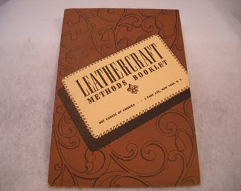 Vintage Boy Scout Leathercraft Methods Booklet
