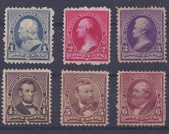 United States Postage Stamp - Scott #219-224 unused (KP)