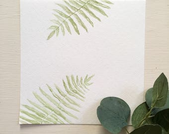 Original watercolor Painting- leafy green