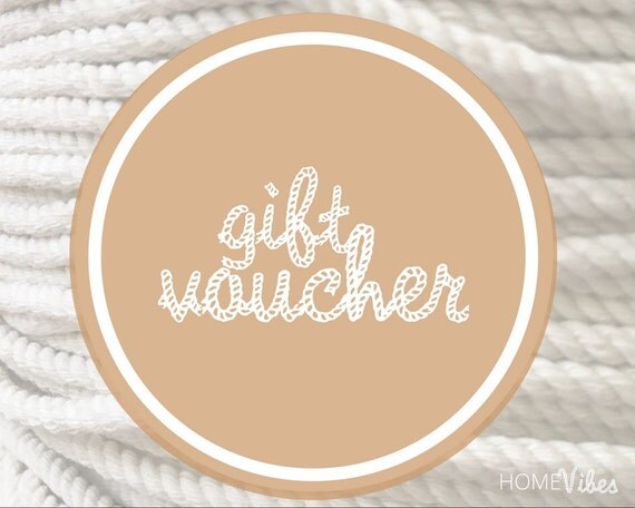 Gift Voucher || Choose your Value || Gift for Her || Christmas