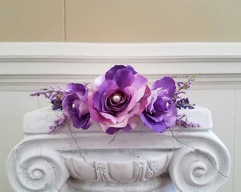 Purple and violet flower crown