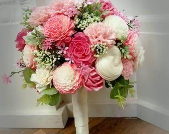 Blush & Cream Sola Wood Bouquet
