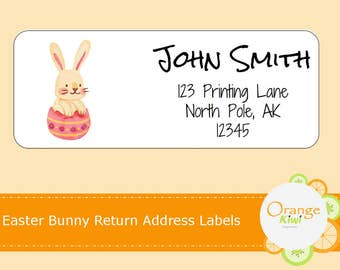 Easter Return Address Labels, Easter Bunny Mailing Labels, Bunny Shipping Labels, Custom Return Address Stickers, Easter Bunny Stickers