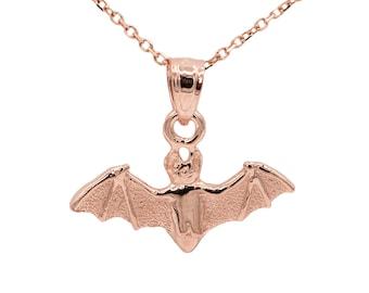 10k Rose Gold Bat Necklace
