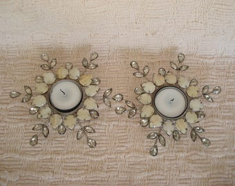 vintage tea light candle holders