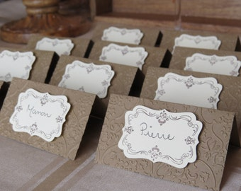 "Wedding Place Cards, Rustic Wedding Place Cards, Kraft Place Cards ""Rustic"""