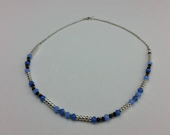 B.B. Silver Bead Necklace
