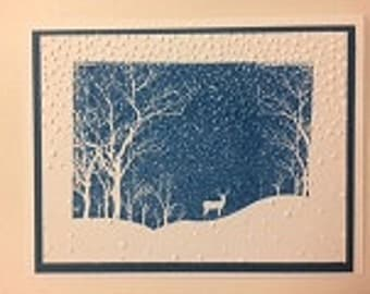 Winter Snow Scene card