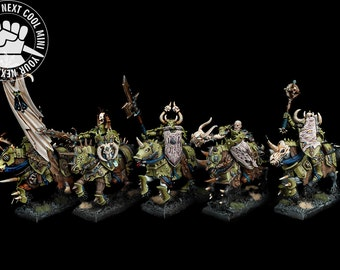 Warhammer Fantasy / Age of Sigmar Warriors of Chaos Knights 5 PRO PAINT minis, extra fine detail