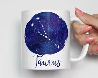 Taurus Constellation Mug, Taurus Zodiac Mug, Taurus Coffee Mug, Unique Coffee Mug, Astrology Mug, Zodiac Gift 0079