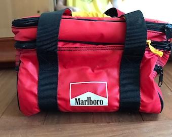 Vintage 90s Marlboro Cigarettes Lunch Bag Travel Bag