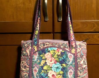 Purple paisley handbag