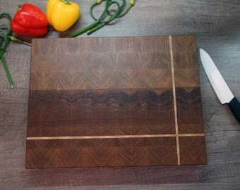 End grain cutting board. Oak end grain cutting board. Oak cutting board. Butcher block. Oak. Maple.