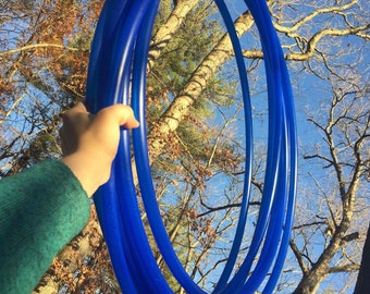 """UV Blue 3/4"""" Bare Polypro Hoop ** Grip Tape Included**"""