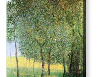 "Gustav Klimt ""Fruit Trees"" Canvas Art Repro 8""x8"", 10""x10"", 16""x16"", 20""x20"", 24""x24"", 30""x30"", 44""x44"""