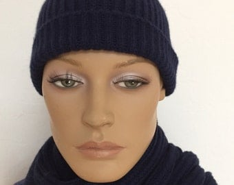 Set hat and scarf cashmere