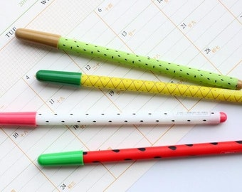 Fruit Pens | Watermelon, Kiwi, Pineapple, Dragon Fruit