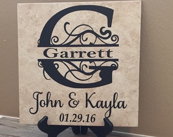 Family Name Sign, Name Plaque, Family Name, Established Sign, Last Name Sign, Name Sign, Family Sign, Wedding, Anniversary, Gifts,