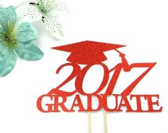 Graduation Cake Topper, 2017 Grad, Graduation Party, 2017 Graduation Cake Topper, Class of 2017 Cake Topper