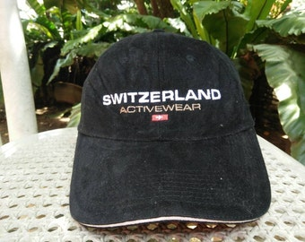 Rare Vintage SWITZERLAND ACTIVEWEAR Cap Hat Free size fit all