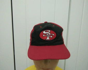 Rare Vintage SAN FRANCISCO 49ERS Colour Block Big Logo Cap Hat Free size fit all