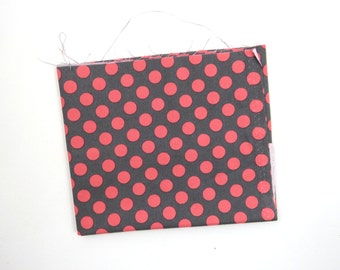 Coral Ta Dot -  end of bolt 1/4 YARD - HALF YARD - Michael Miller - Cotton Fabric - Quilting Fabric