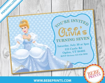DIGITAL Cinderella Invitation | Personalized Printable | One JPG File