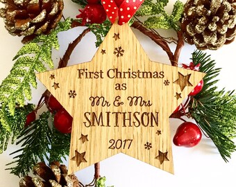 First Christmas as Mr and Mrs, 1st Christmas as Mr & Mrs, First Christmas Married, First Christmas Couple, First Christmas decoration 6CD