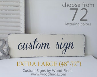 Wooden Custom Sign, Create Your Own Sign, Wooden Sign, Custom wood signs with quotes,  Wooden Signs, Housewarming Gift, X-Large