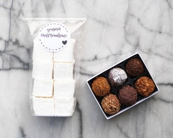 Gourmet marshmallow and Truffallow gift set