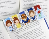 Princess and Beast Magnetic Bookmark, Planner Clip