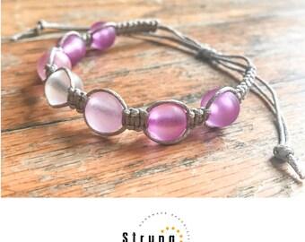 Faux seaglass braided bracelets