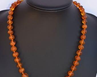 Vintage  Genuine Natural Baltic Amber  Beads Necklace 34,2g - Amber Jewelry - Amber Stone - Vintage Necklace