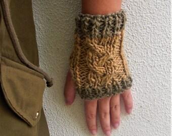 Hand knit gloves Fingerless gloves Knit arm warmers Knit mittens hand knit mittens cable knit gloves braided knit gloves christmas gift