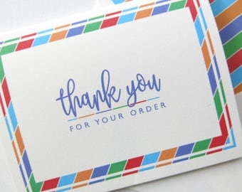 Thank You for Your Order - Independent Consultants - Rodan and Fields  - Chunky Diagonal Stripe