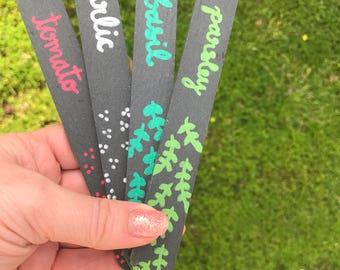 Slate Garden Markers. Vegetable Garden Stakes. Personalized Garden Markers. Vegetable Garden