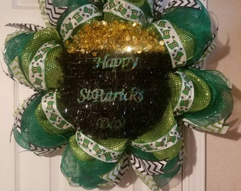 Lighted St Patrick's Wreath