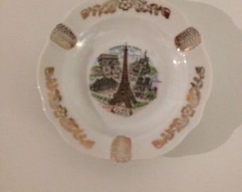 FLORANCE LIMOGES Vintage Porcelain Ashtray Made in France