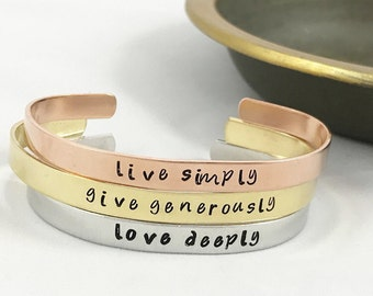 Live Simply, Give Generously, Love Deeply