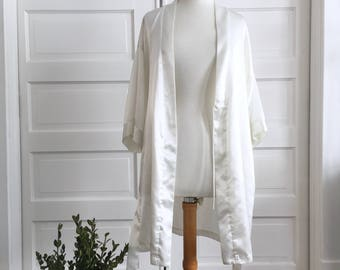 white sateen robe