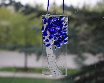 Blue Aspen Tree Suncatcher