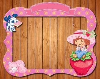 Strawberry Shortcake  themed party photo frame