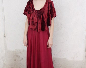 1930s panne velvet and taffeta gown 'Milly Collection |