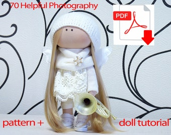 Textile doll tutorial, PDF Digital Pattern, Sewing Patterns, pattern doll, sew doll pattern, sewing, Pattern Decoration doll, Pattern toys