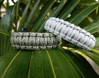 Paracord Survival Bracelet, Paracord Bracelet, Survival Bracelet, Paracord, Tactical Bracelet, Paracord Flint, Whistle, Survival Paracord