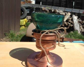 Repurposed Copper light fixture/insulator