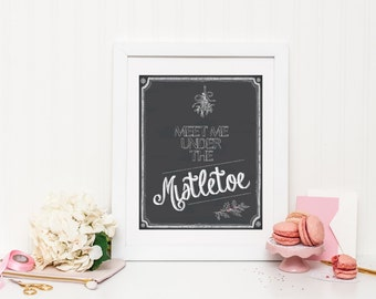 Under the Mistletoe Wall Print